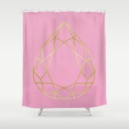 Golden diamond I Shower Curtain