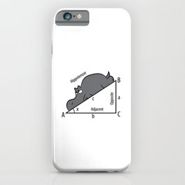 Funny Math Humor Hippotenuse Hypotenuse Funny iPhone Case