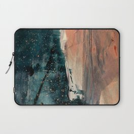 Same Stars [2] - an abstract mixed media piece in blues, pinks, and black Laptop Sleeve