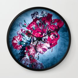 Queen of Skulls Wall Clock