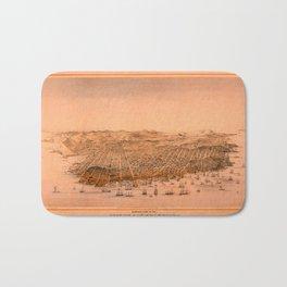 Map Of San Francisco 1868 Bath Mat
