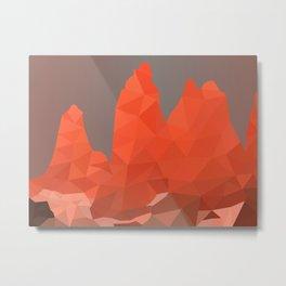 Torres del Paine National Park Low Poly Art Metal Print