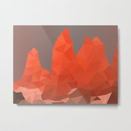 Torres del Paine National Park Low Poly Art Metal Print