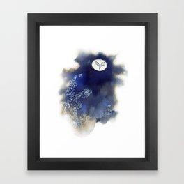 Ghost Owl Framed Art Print