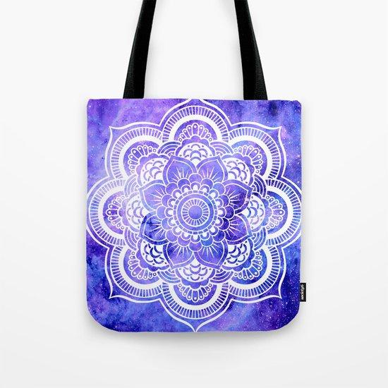 Mandala Violet Blue Galaxy Space Tote Bag