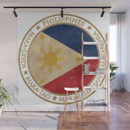 Vintage Republic of the Philippines Wall Mural