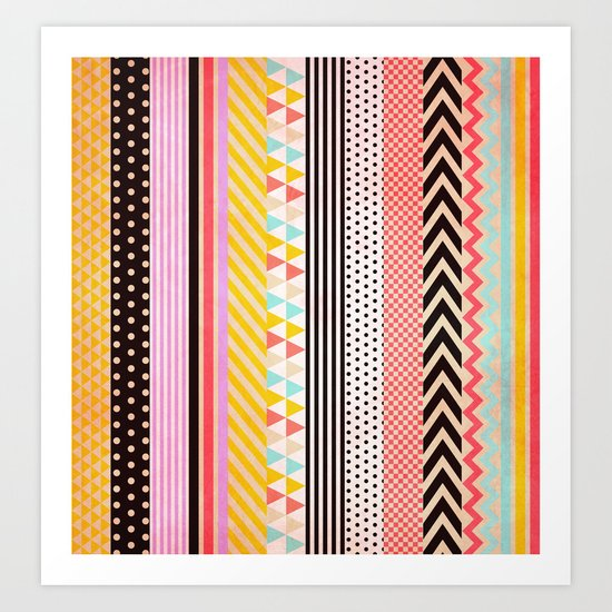 Washi Tape Art Print