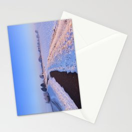 II - Lake and dike at sunrise in winter in The Netherlands Stationery Cards