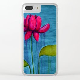 Pink Lotus Clear iPhone Case