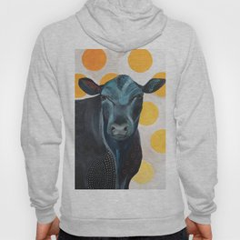 Blue Cow Yellow Dots Hoody