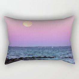 Full Moon on Blue Hour Rectangular Pillow