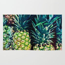 Pineapples in Colorful Bunch Rug