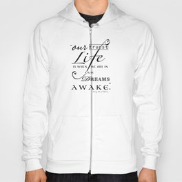 Typography Quote Art Print Hoody