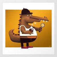 In Vest A Gator Art Print