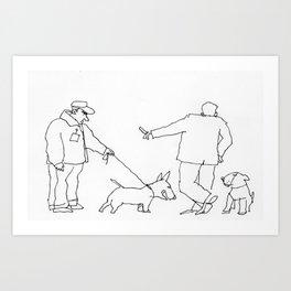 dog show Art Print