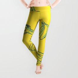 3D Bananas PatternYellow Leggings