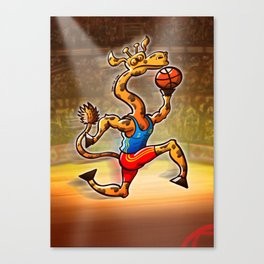 Olympic Basketball Giraffe Canvas Print