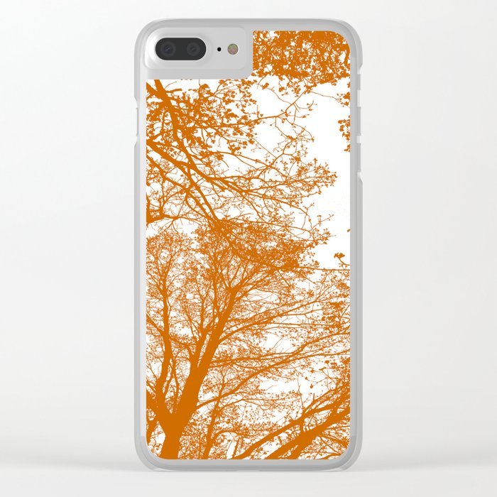 Tangerine tree silhouettes Clear iPhone Case