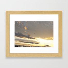 Warm Sunset Framed Art Print