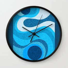 Blue Shag: A Wall Rug Design Wall Clock