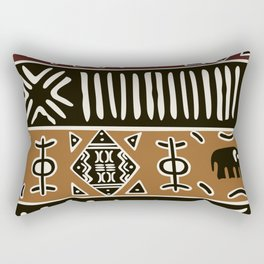 African mud cloth with elephants Rectangular Pillow