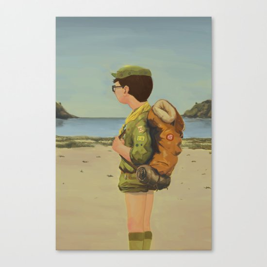 Scouting Canvas Print