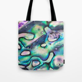 Purpley Green Mother of Pearl Abalone Shell Tote Bag