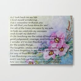 A Mother's Day Poem Metal Print