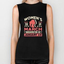 Women's March Washington DC Shirt Womens Wave January 2023 Biker Tank
