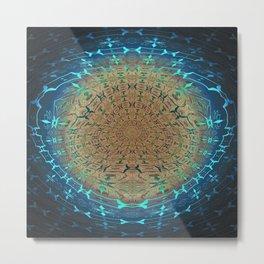 Organic Process Mandala 1 Metal Print
