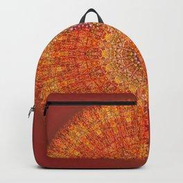 Red Burst Mandala 0118 Backpack