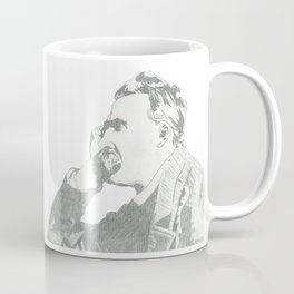 nietzsche on canvas board Coffee Mug