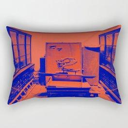 at the museum Rectangular Pillow