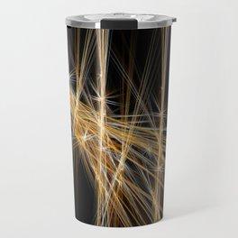 Firecracker   Geometric Line Abstract Travel Mug