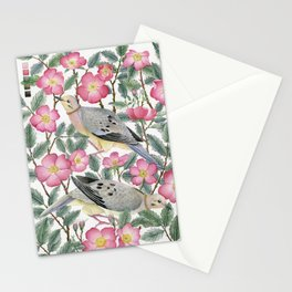 Doves & Wild Roses Stationery Cards