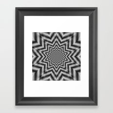 Optically Challenging Star in Black and White Framed Art Print