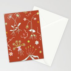Red Flora of Planet Hinterland Stationery Cards