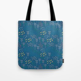 Winter Abstract Tote Bag