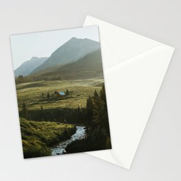 Secluded cabin on the bend in Crested Butte Stationery Cards