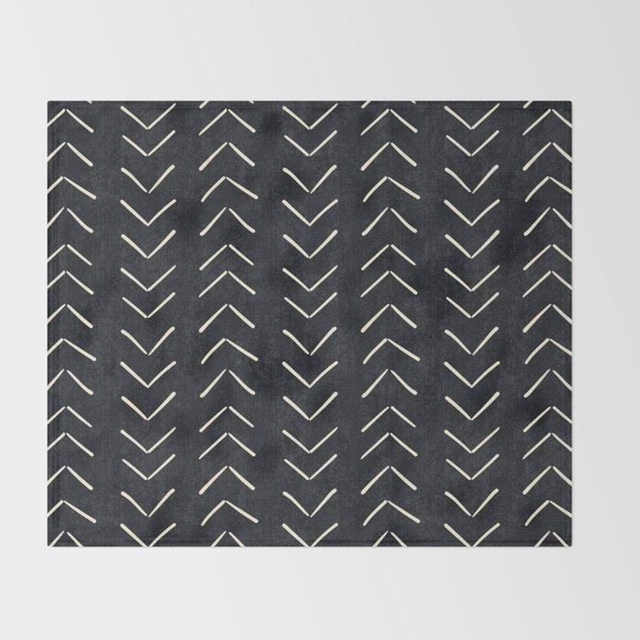 Mudcloth Big Arrows in Black and White Decke