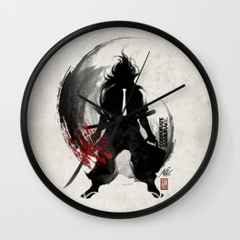 Corporate Samurai Wall Clock
