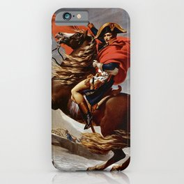 Jacques Louis David - Napoleon Crossing the Alps iPhone Case