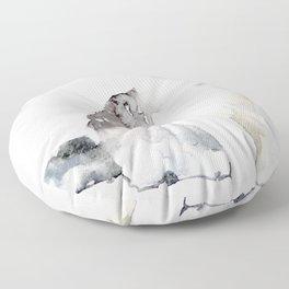 Watercolor Cat Paintng Floor Pillow