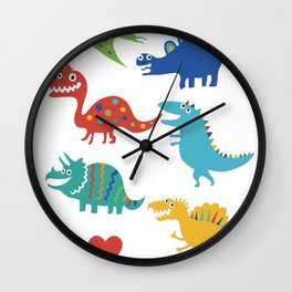 I love dinosaurs Wall Clock