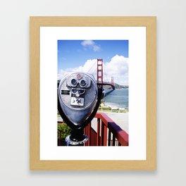 Golden Gate from a viewfinder Framed Art Print