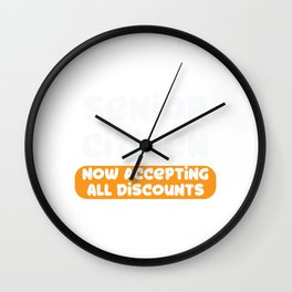 Senior Citizen T-Shirt Gift Now accepting all discounts Wall Clock