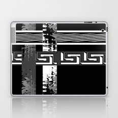 Creative Black and white pattern . The braided belts . Laptop & iPad Skin