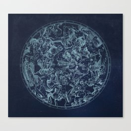 Vintage Constellation & Astrological Signs Canvas Print