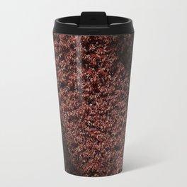 Autumn's red hedge Travel Mug