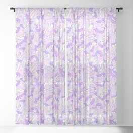 Cool Puppy Dreams Sheer Curtain